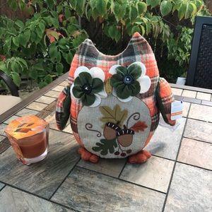 Fall Stuffed Owl Decoration